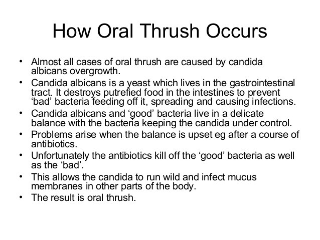 How oral thrush occurs
