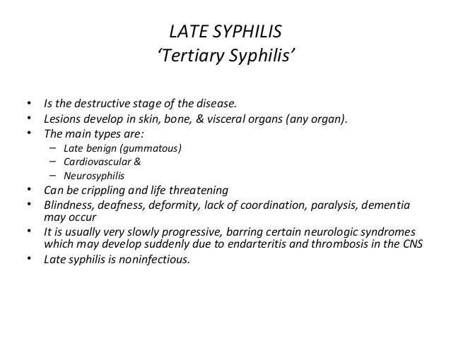 Late syphilis