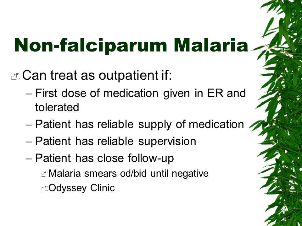 Non falciparum malaria