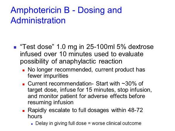 Amphotericin B Dosage
