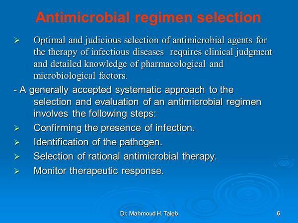 Antimicrobial Regimen Selection