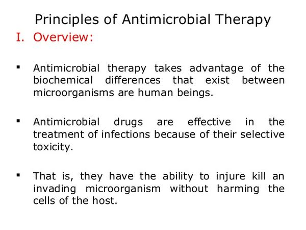 Antimicrobial therapy: general principles