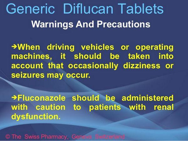 Fluconazole: Cautions