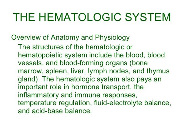 Penicillins: Organs and Systems: Hematologic
