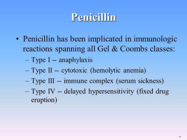 Penicillins Immunologic