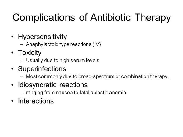 Toxicity of Antimicrobial Therapy