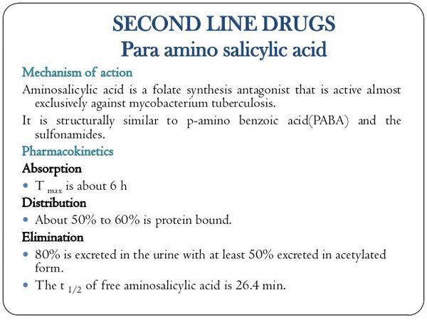 Aminosalicylic Acid Active Tuberculosis