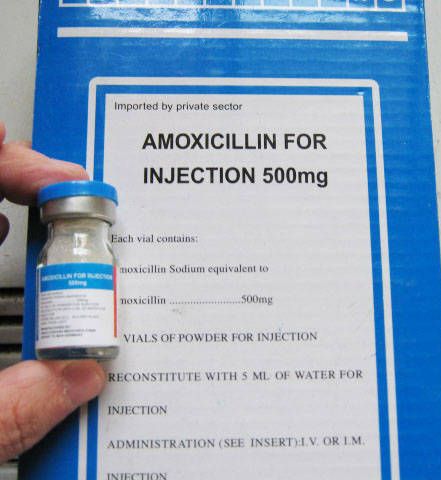 Amoxil Vials for Injection