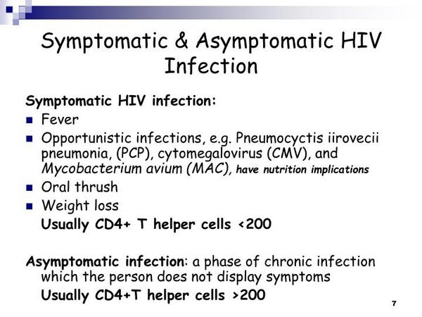 Asymptomatic HIV Infection