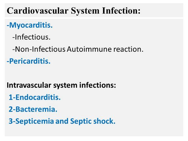 Cardiovascular Infections