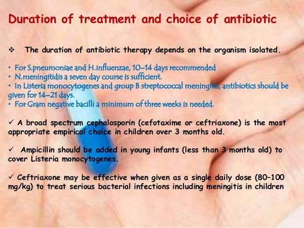 Choice of Antibiotic Therapy