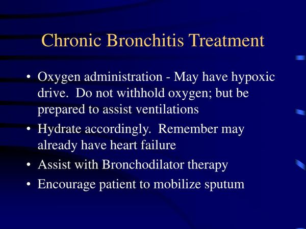 Chronic Bronchitis: Emerging therapies