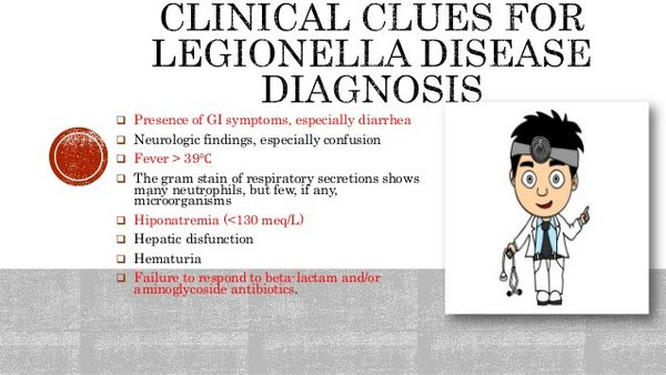 Legionella: Clinical Syndromes