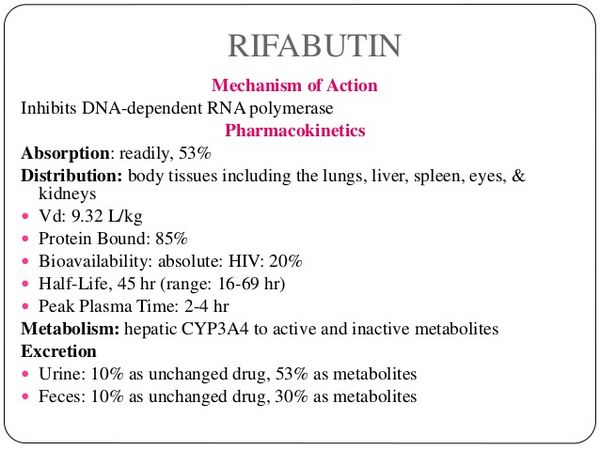 Rifabutin: Dosage and Administration