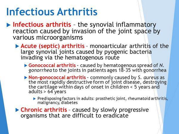 Arthritis, infectious