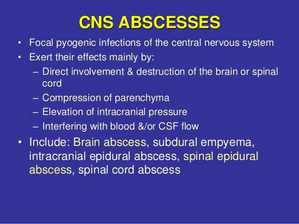 Central Nervous System Abscess