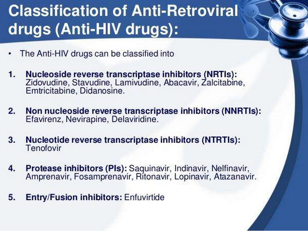 Classification of Antiretroviral Agents