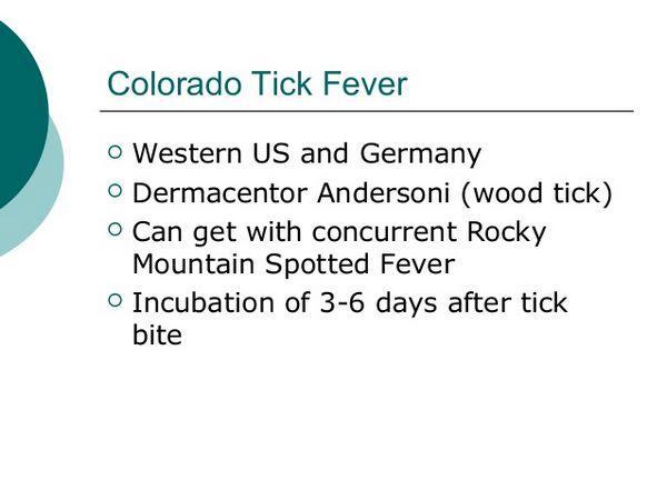 Colorado Tick Fever