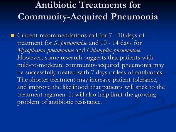 Community-Acquired Pneumonia: Current Therapies