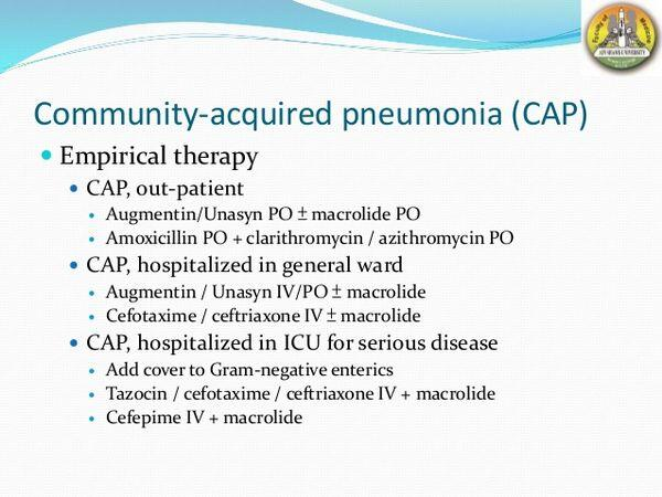 Community-Acquired Pneumonia: Emerging Therapies