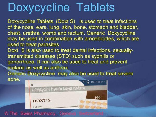 Doxycycline dosage