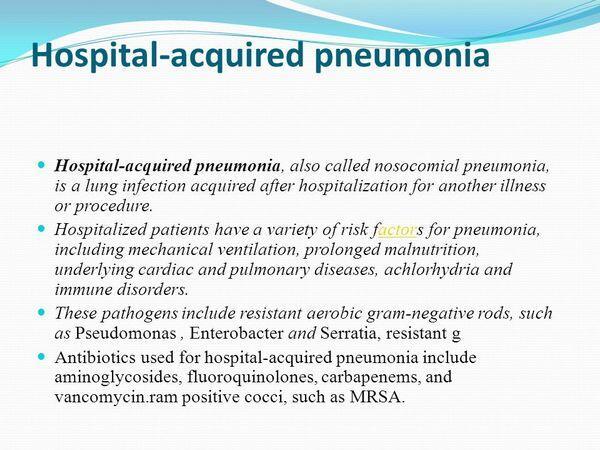 Nosocomial Pneumonia