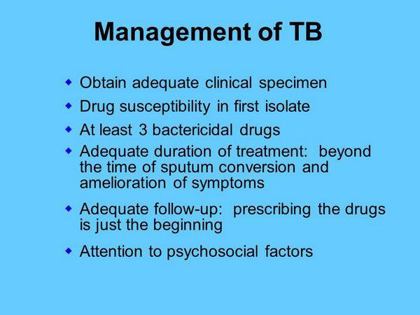 Management of Tuberculosis